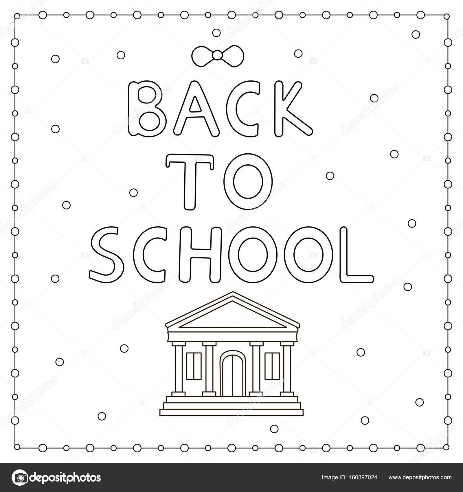 Zurück zu Schule Hintergrund-handgezeichnete Text. Malvorlagen ...