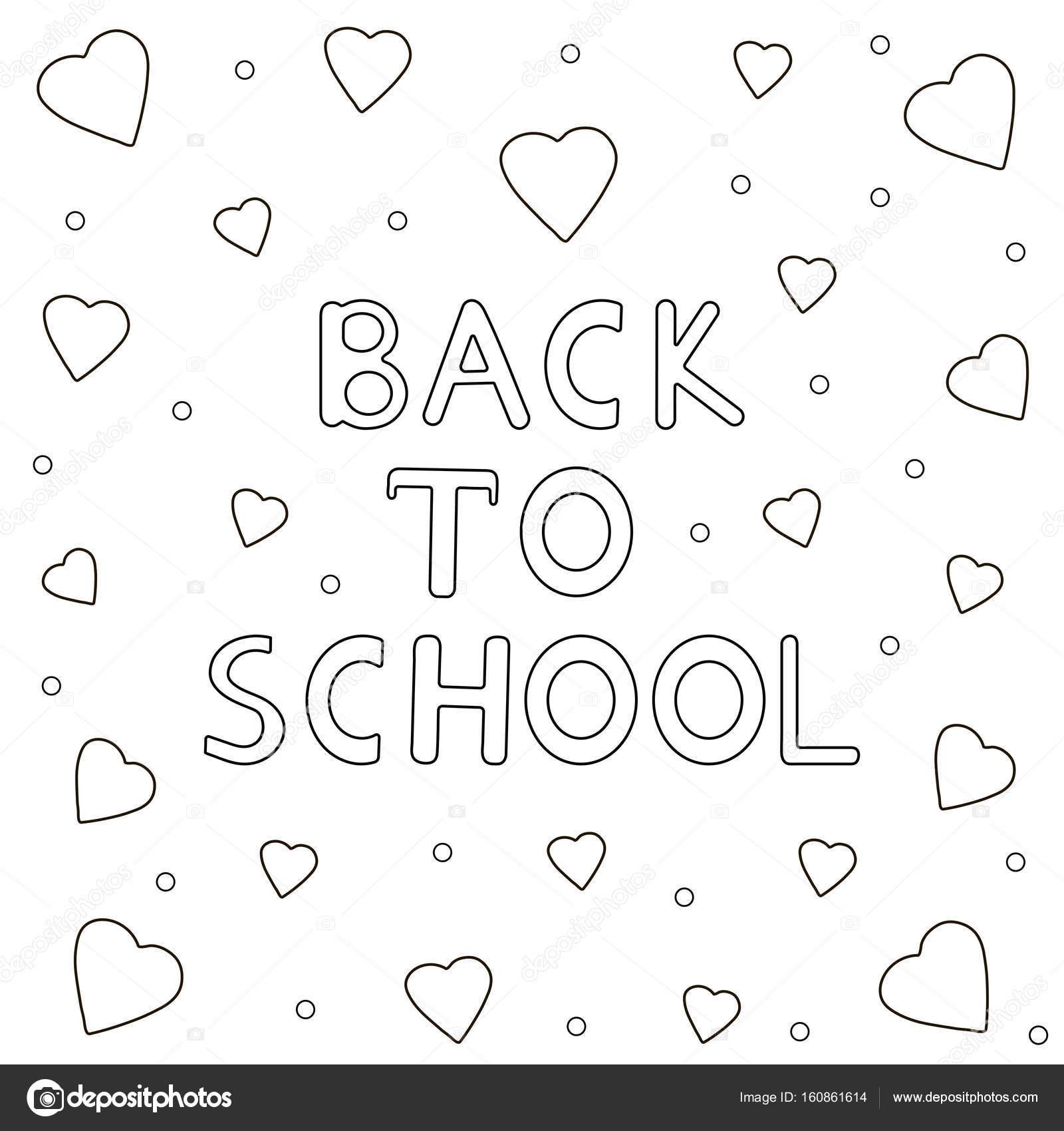 Volver a texto de fondo-dibujados a mano de la escuela y el corazón ...