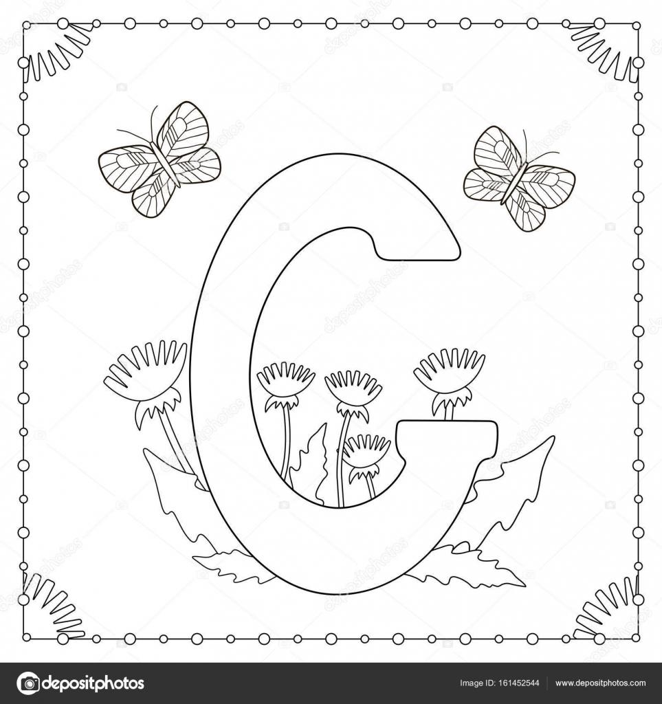 Página para colorear de alfabeto — Vector de stock © Yasyazagoruiko ...
