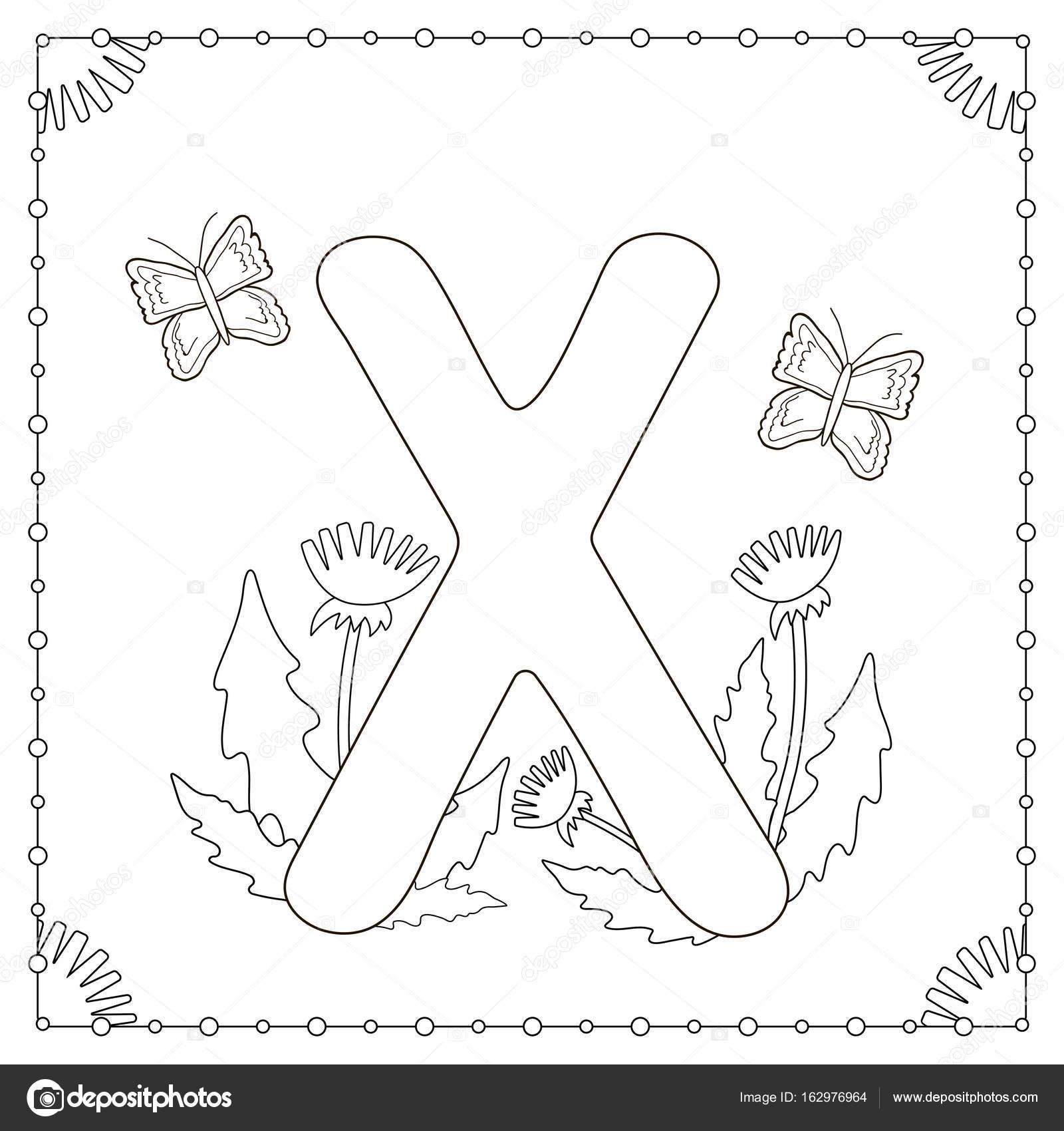 Küçük Harf Harf Boyama Sayfa Doodle Stok Vektör Sanatı Alfabenin