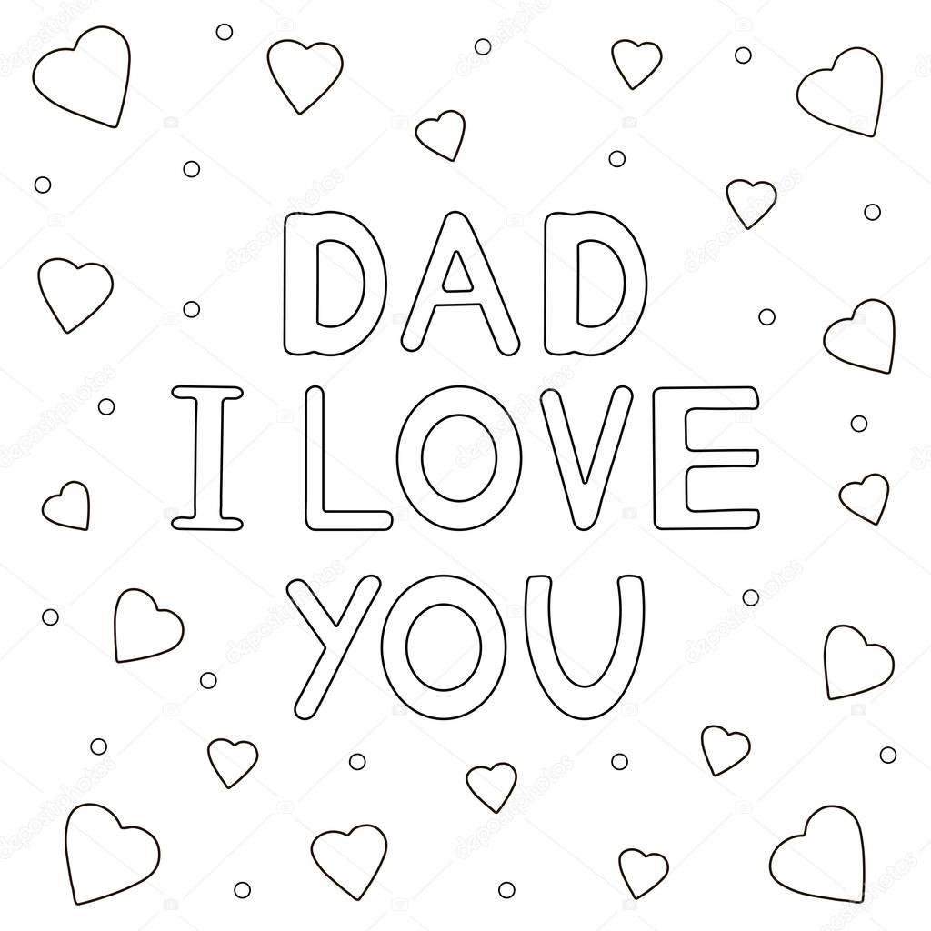 met de getekende tekst quot papa ik hou je quot en harten