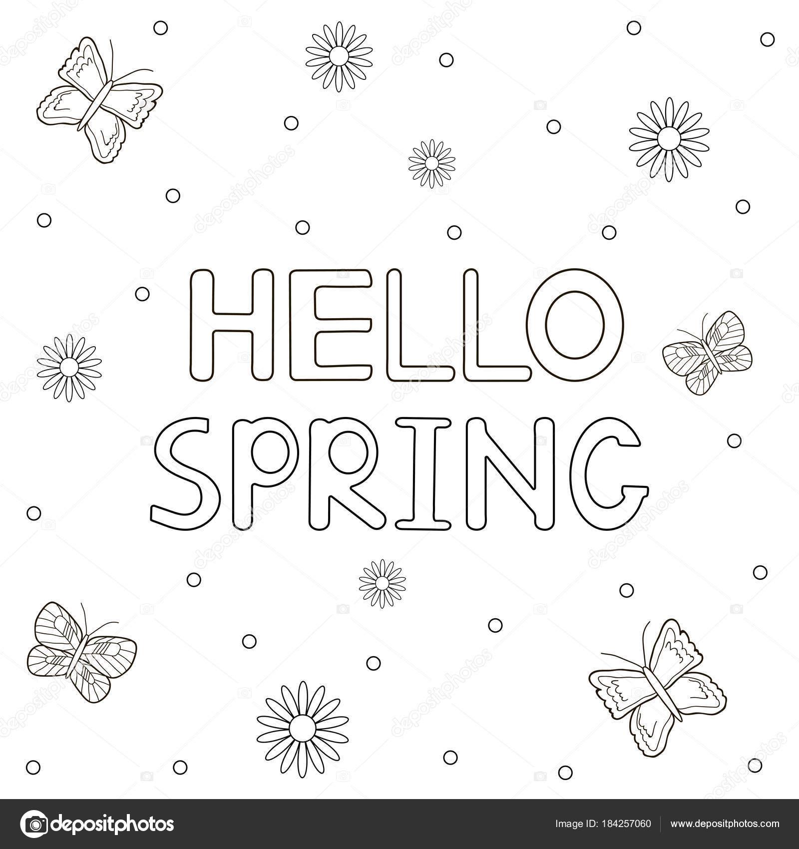 Schmetterlinge Malvorlagen mit handgezeichneten Text \