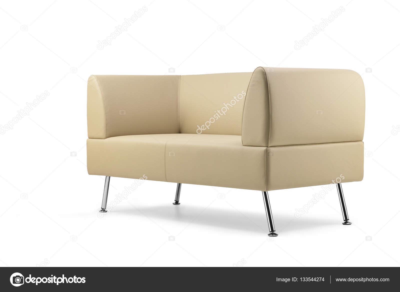 Stupendous Beige Leather Sofa Side View Stock Photo C Antoniotruzzi Squirreltailoven Fun Painted Chair Ideas Images Squirreltailovenorg