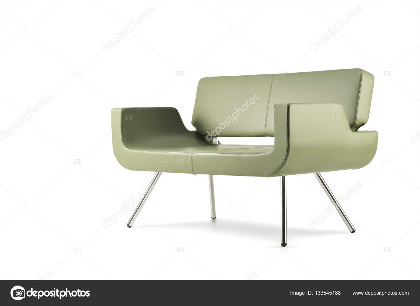 Miraculous Green Leather Sofa Side View Stock Photo C Antoniotruzzi Machost Co Dining Chair Design Ideas Machostcouk