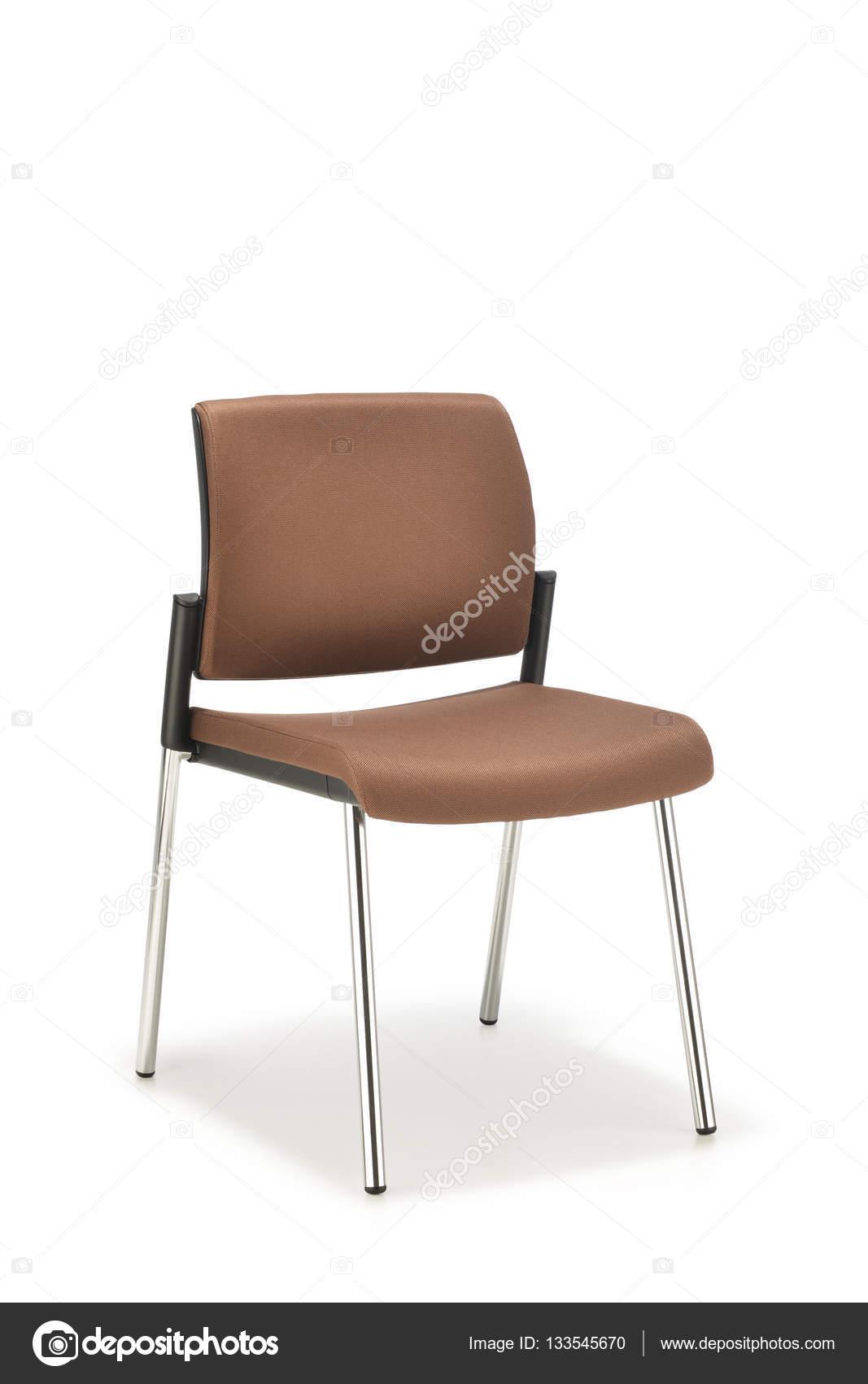 Bureaustoel Zonder Armleuning.Bureaustoel In Bruine Stof Zonder Armleuningen Stockfoto