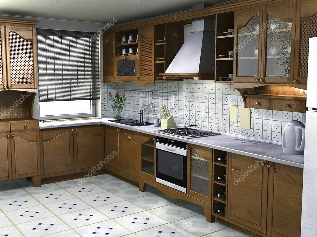 Interior Kitchen Ideas Kitchen Interior Ideas 3d Render Stock