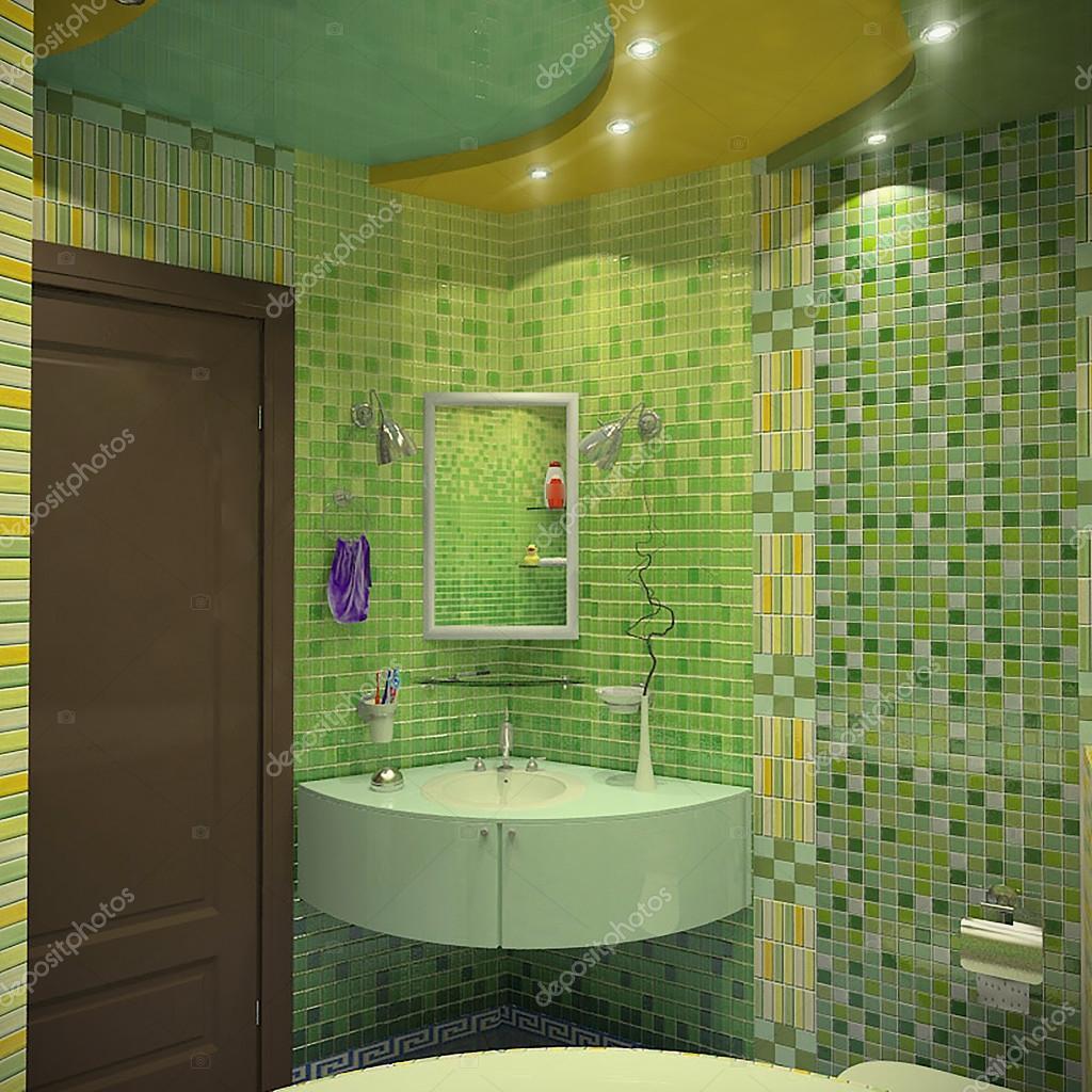 Bagno design minimalista, rendering 3d — Foto Stock © ThreeDiCube #125927682