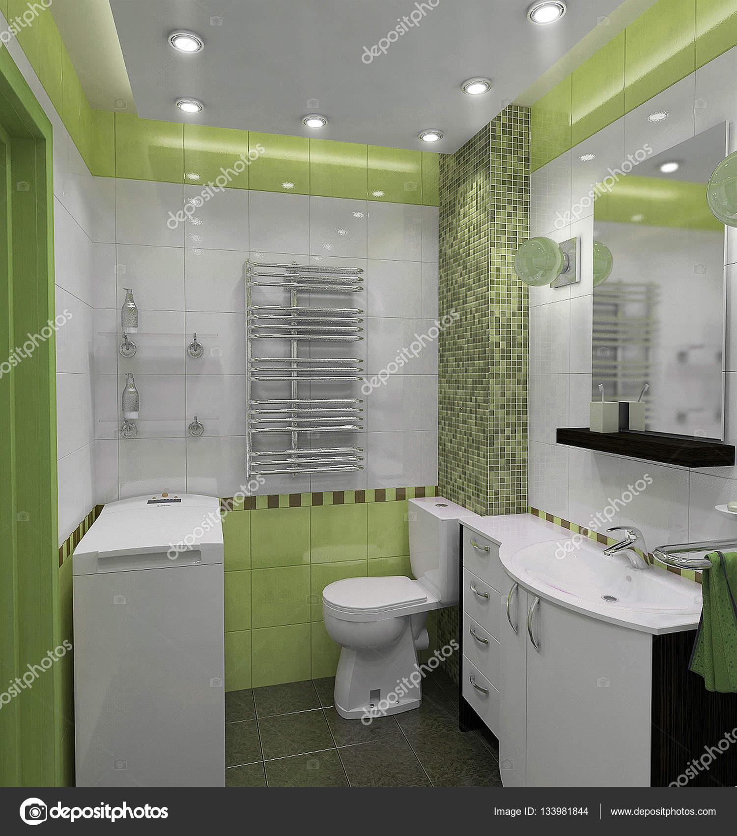 Fürdőszoba minimalista stílusú lakberendezés, 3d render — Stock ...