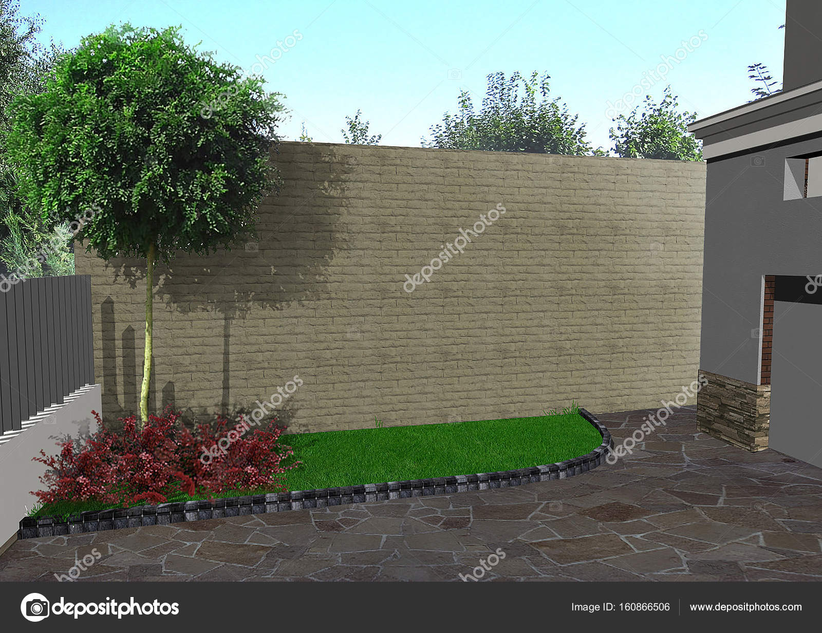 Auffahrt-Design-Ideen, 3d render — Stockfoto © ThreeDiCube #160866506
