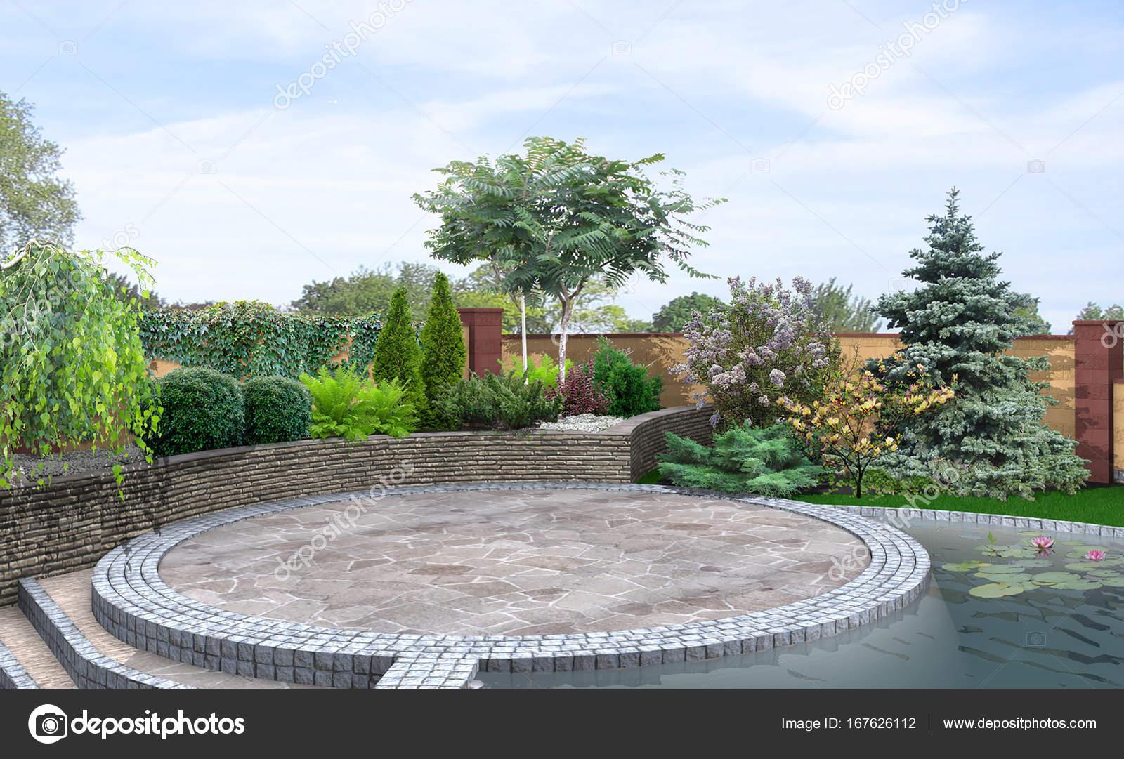 Control de área de patio gazebo, render 3d — Foto de stock ...
