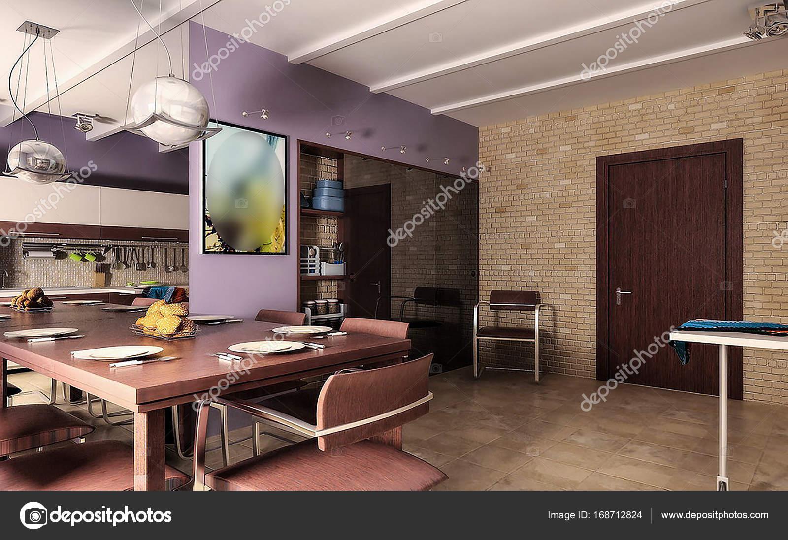 Hallo kombiniert Tech offenes Konzept Esszimmer Interior Design Witz ...