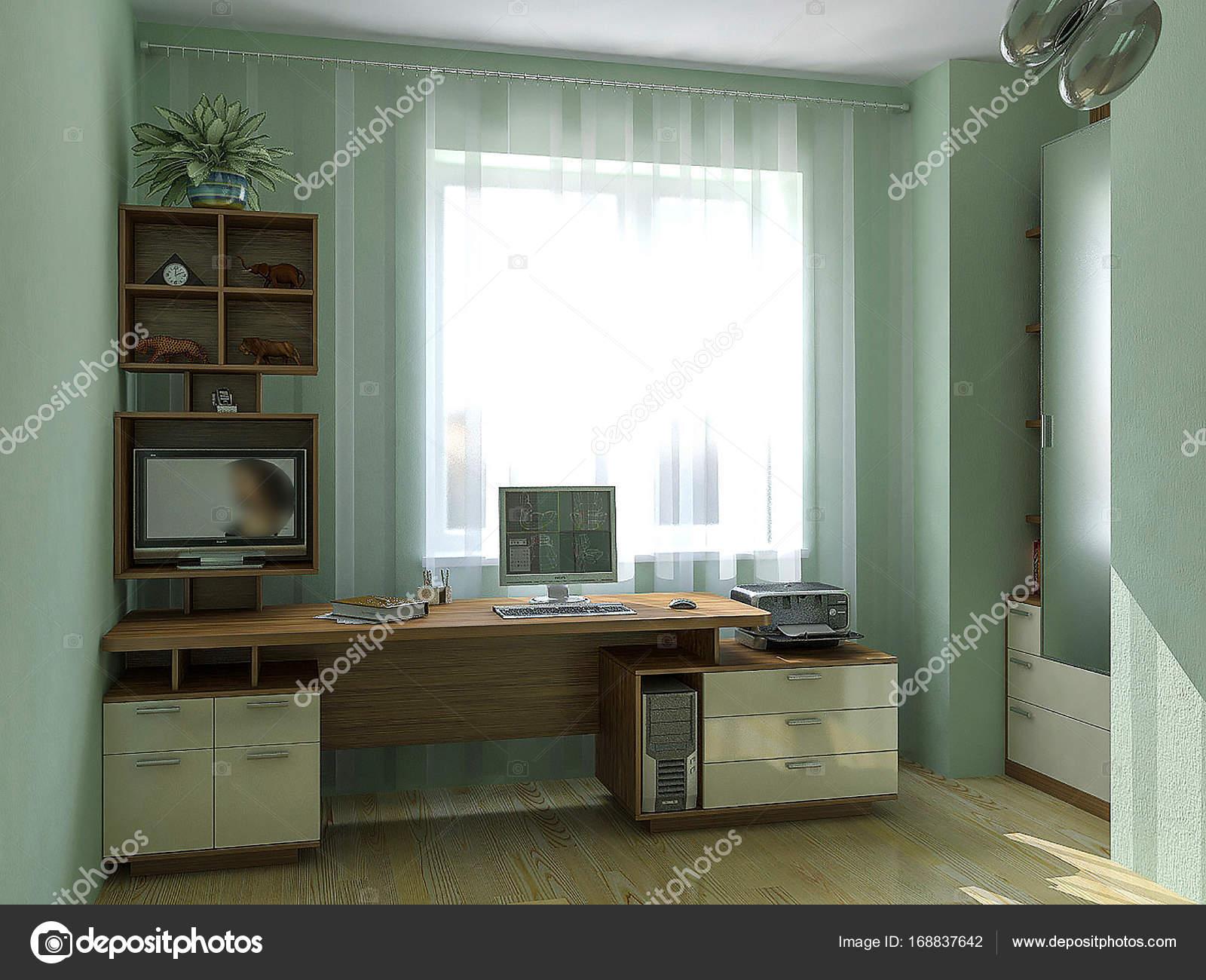 kinderen slaapkamer werkplek ideen van het ontwerp 3d illustratie stockfoto