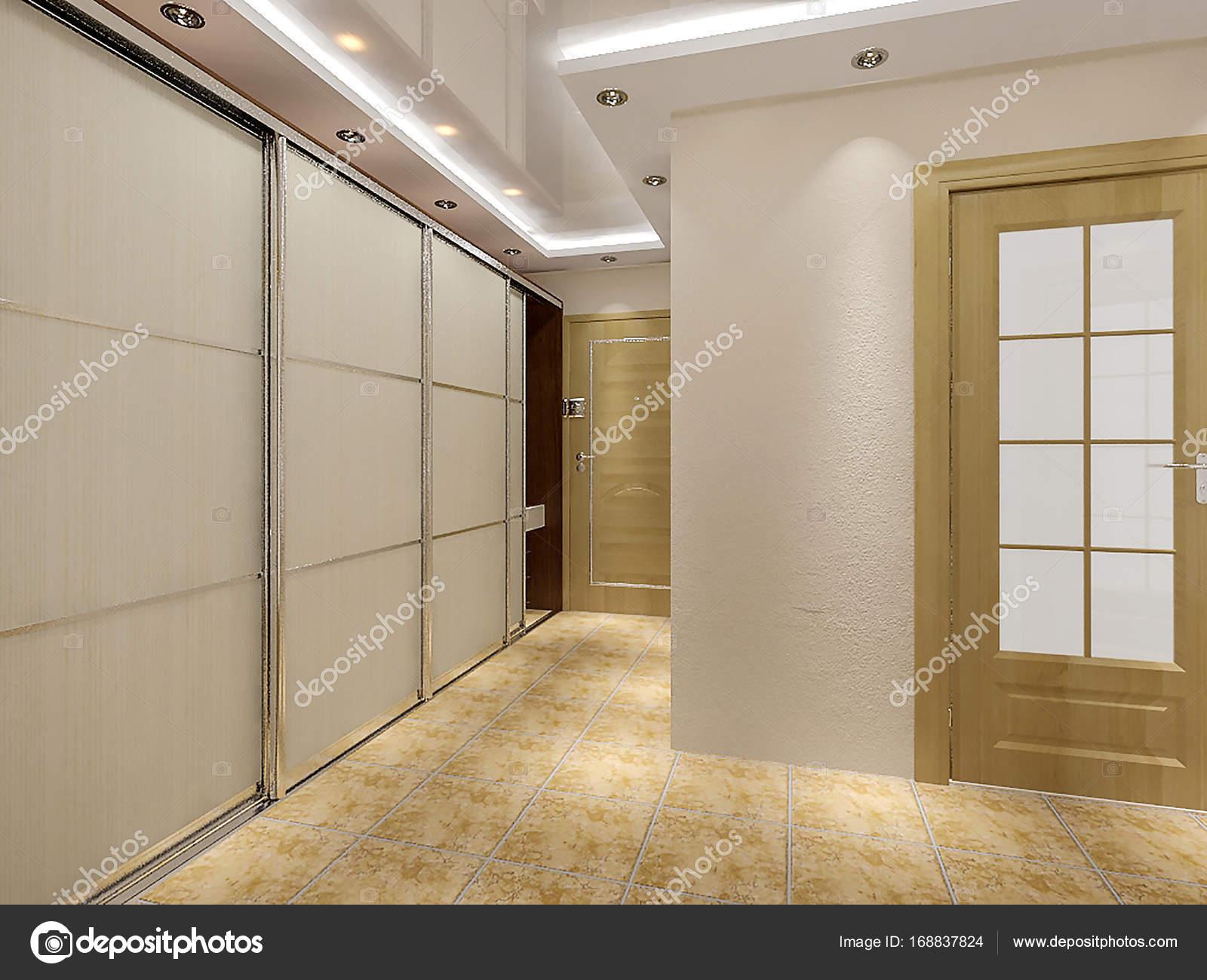 Moderne Eingang Halle Design-Ideen, 3d render — Stockfoto ...