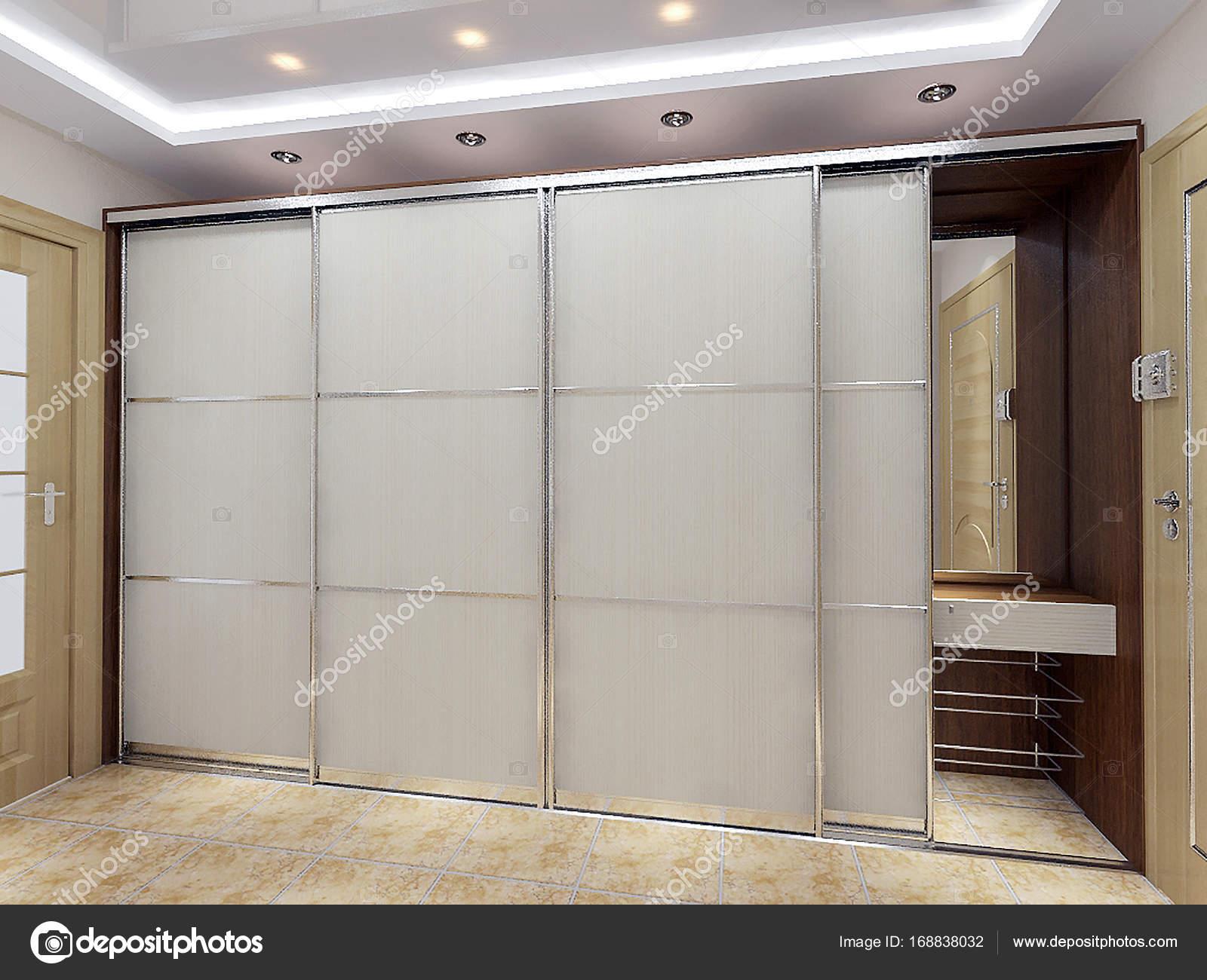 Ideeën van het ontwerp van de hal van de ingang van de moderne 3d