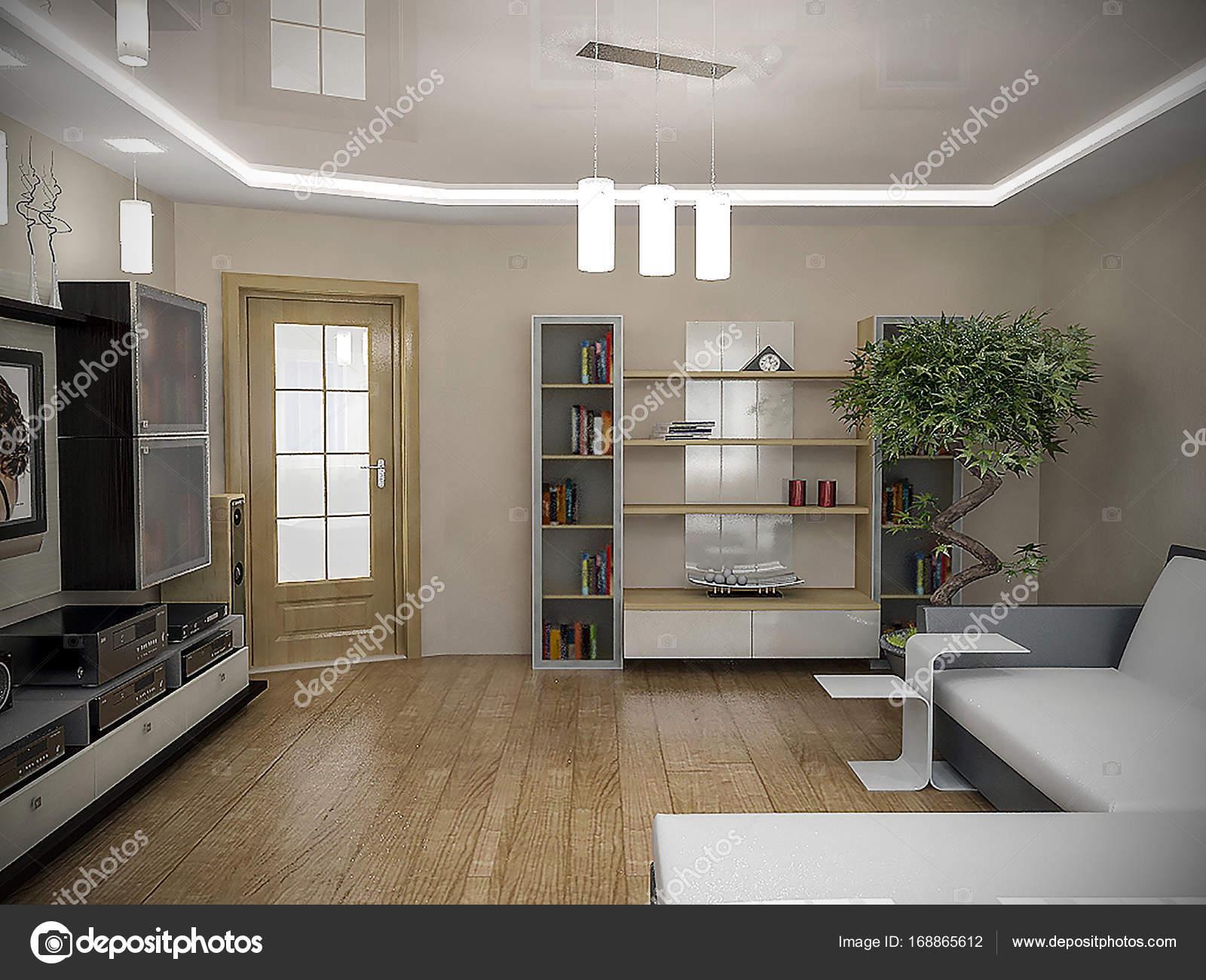Wundervoll Einrichtungsideen Wohnzimmer Ideen Von Einrichtungsideen, 3d Render — Stockfoto