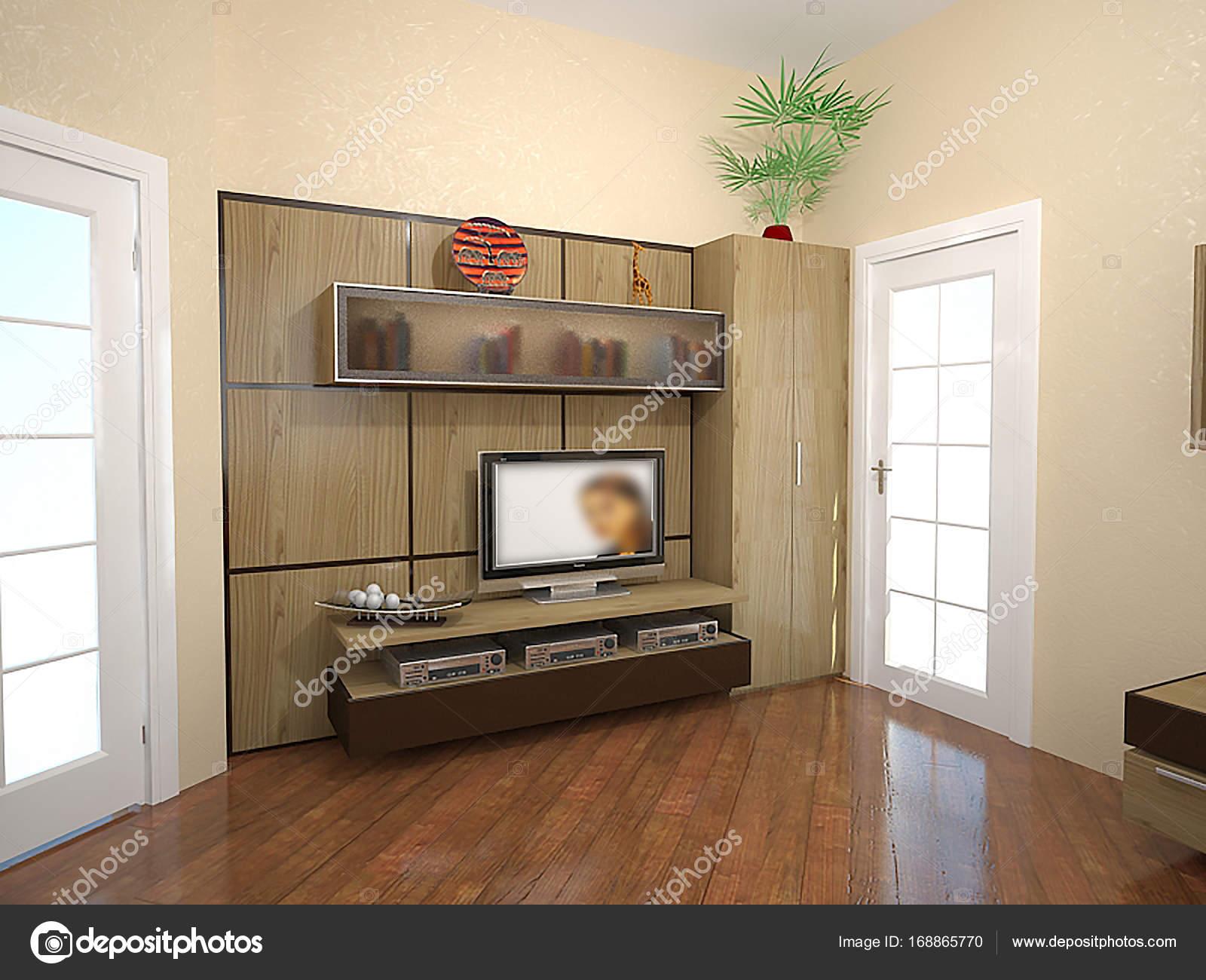 Ideias De Design De Interiores Sala De Estar Render 3d  -> Acabamento Para Sala De Estar