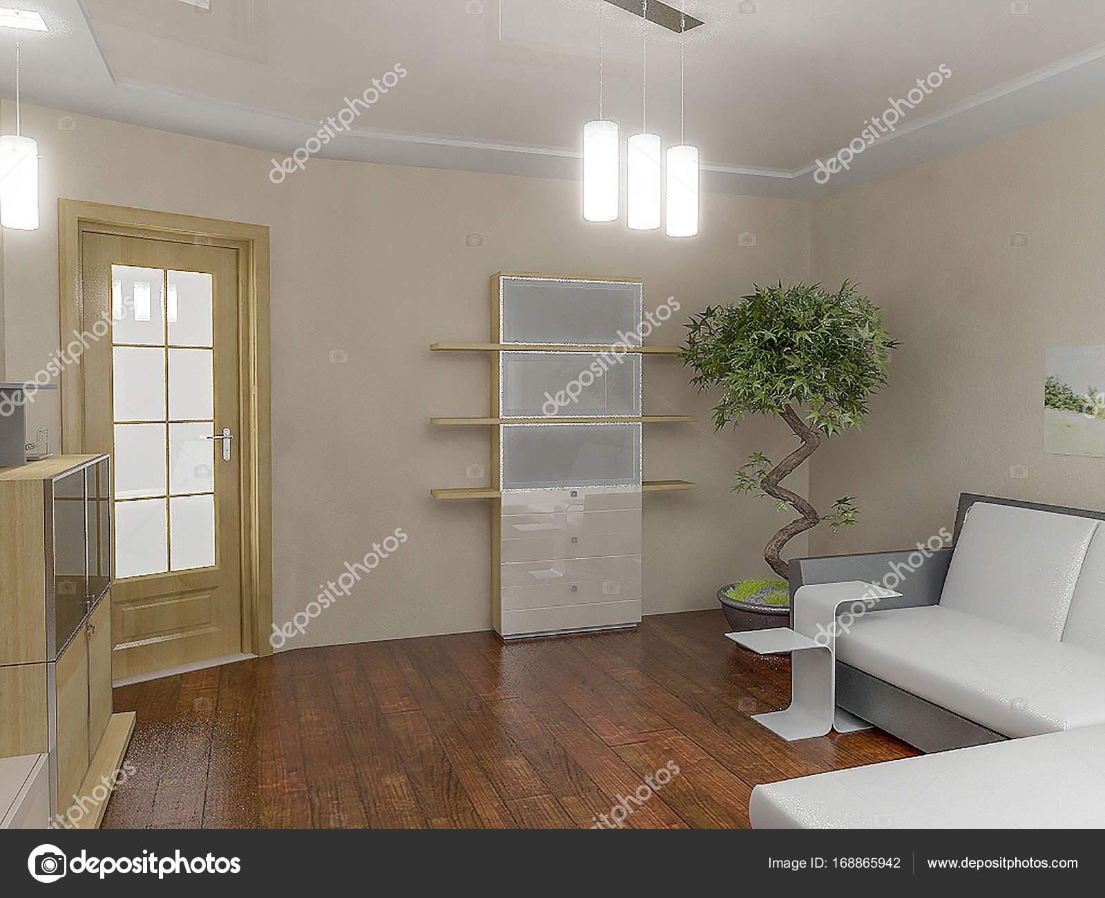 Woonkamer interieur ideeën, 3d render — Stockfoto © ThreeDiCube ...