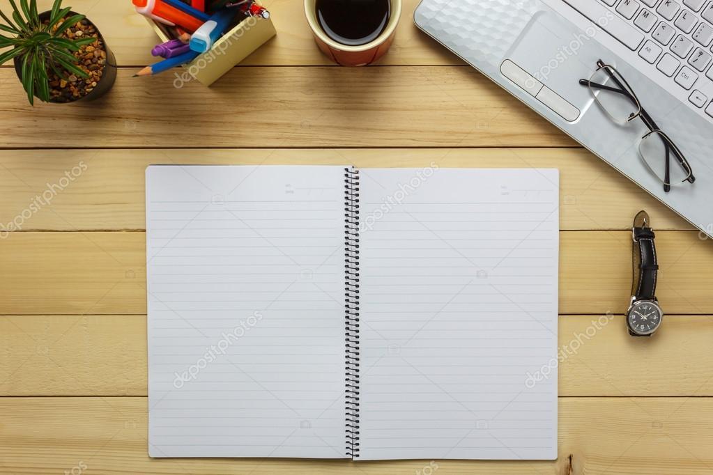 Admirable Office Desk Notebook Pencil Black Coffee Cactus Watch Note Download Free Architecture Designs Terchretrmadebymaigaardcom