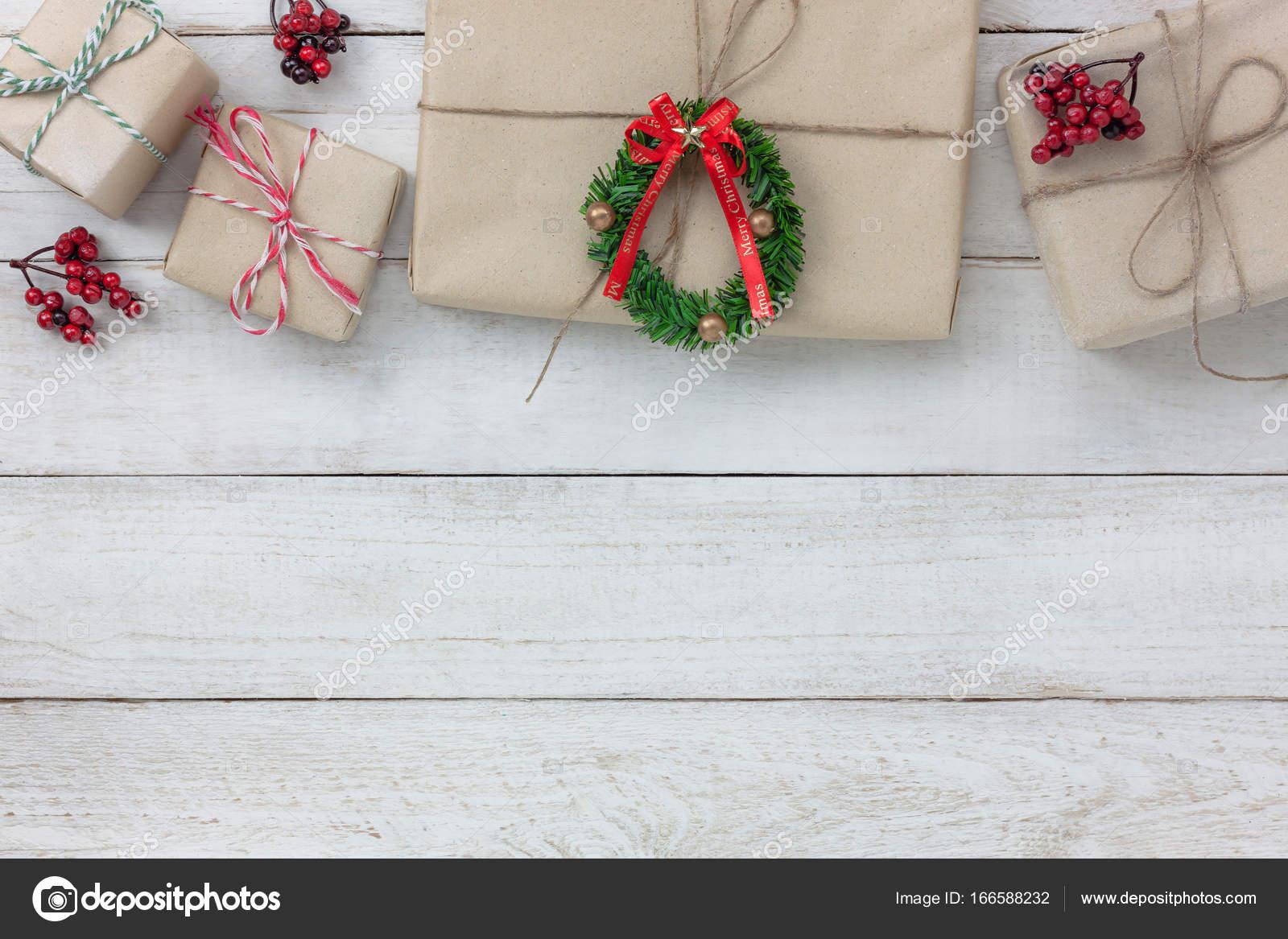 Vue aérienne des ornements et décoration merry christmas et happy