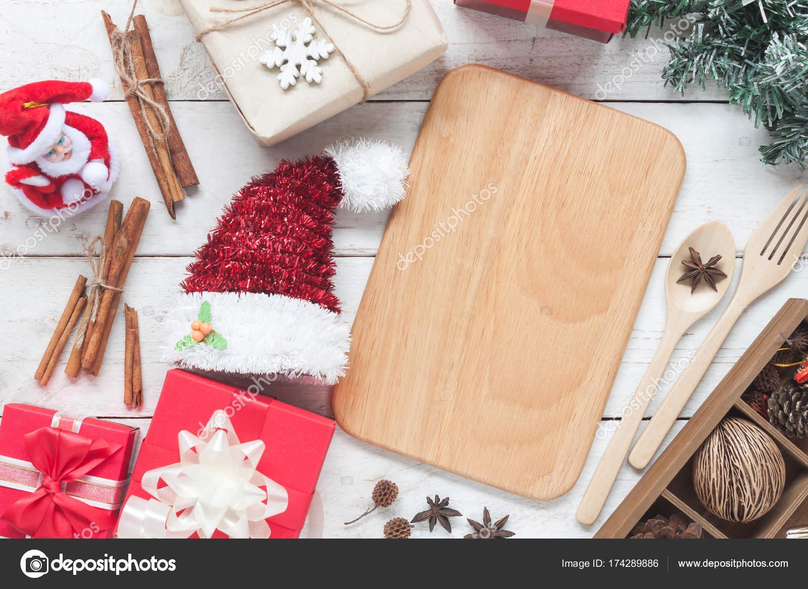 Postres Para Una Feliz Navidad.Imagen Aerea De La Vista Superior De Cuadro De Texto De Oro