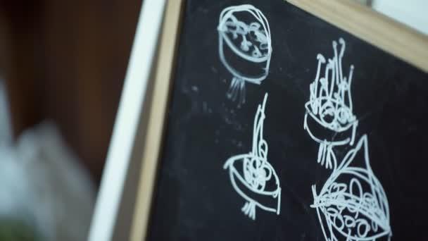 Egy táblára fehér krétával rajzolt csokor rendszerek az egyértelműség kedvéért.