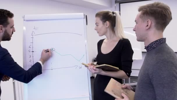 Mladí profesionální tým pracuje na projektu v moderní kanceláři