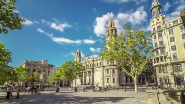 Hyperlapse poštovních a telegrafních budově v Barceloně, Španělsko