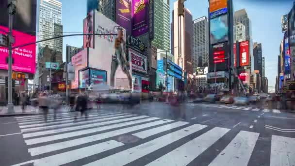 Zeitraffer der Zebrastreifen an der berühmten Times Square, New York. USA, 2017