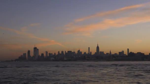 Timelapse of sunrise over Midtown Manhattan, New York City. USA, 2017