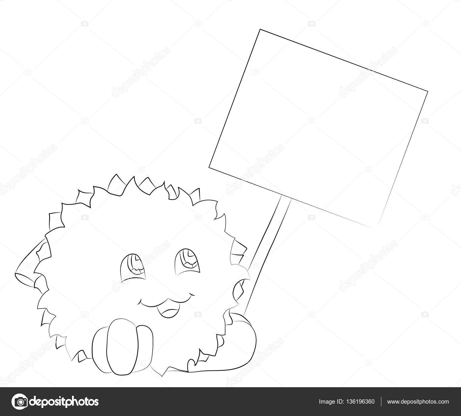 monstruo de dibujos animados en cartel para colorear libro — Vector ...