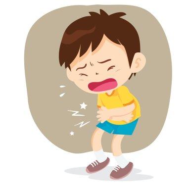 boy have stomach ache