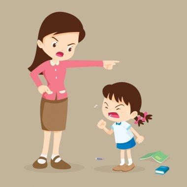 teacher scolding student girl rampage