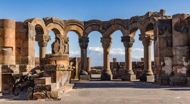 Ruins of the Zvartnos temple in Yerevan, Armenia