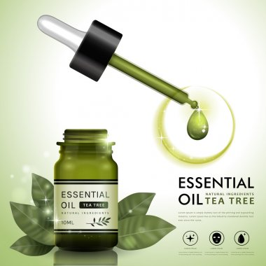 Essential oil ad template