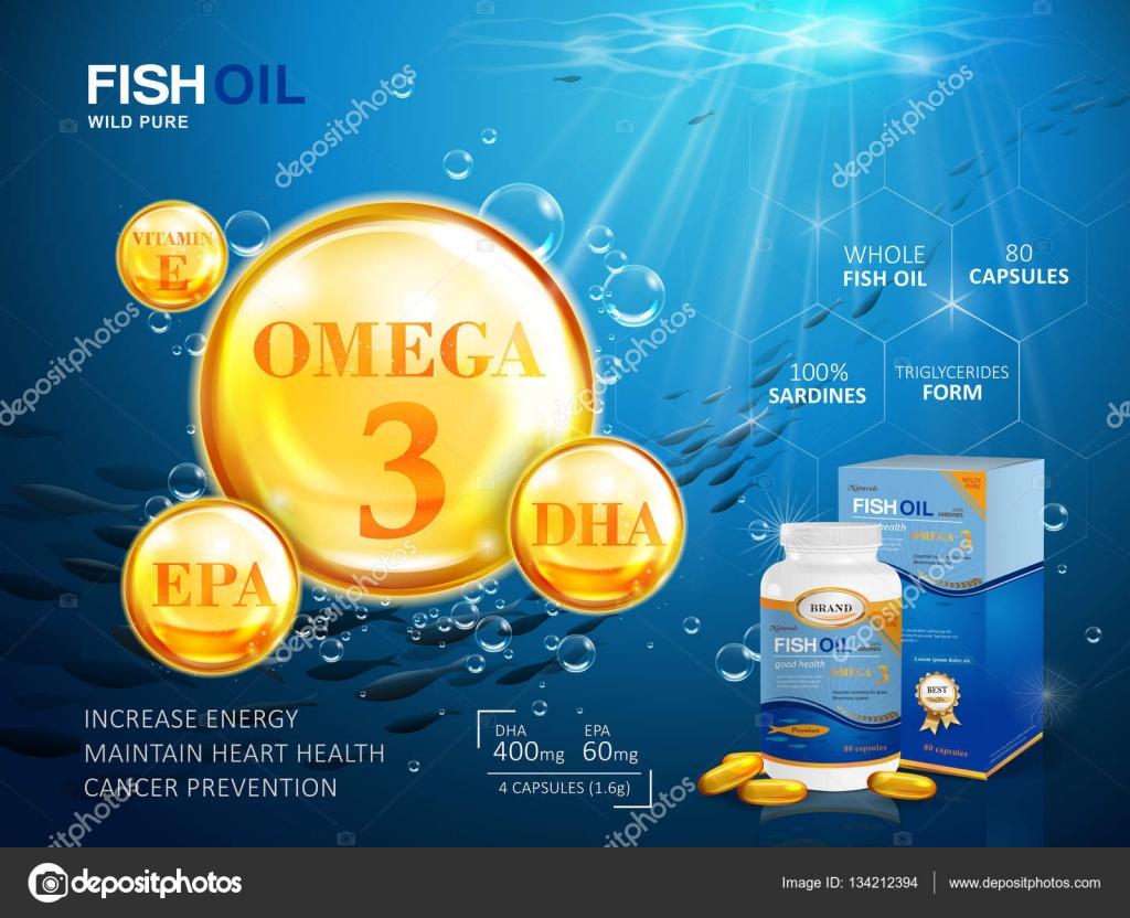 Fisch-Öl-Anzeigen-Vorlage — Stockvektor © HstrongART #134212394