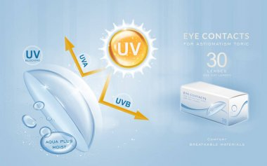 Eye contacts ads template