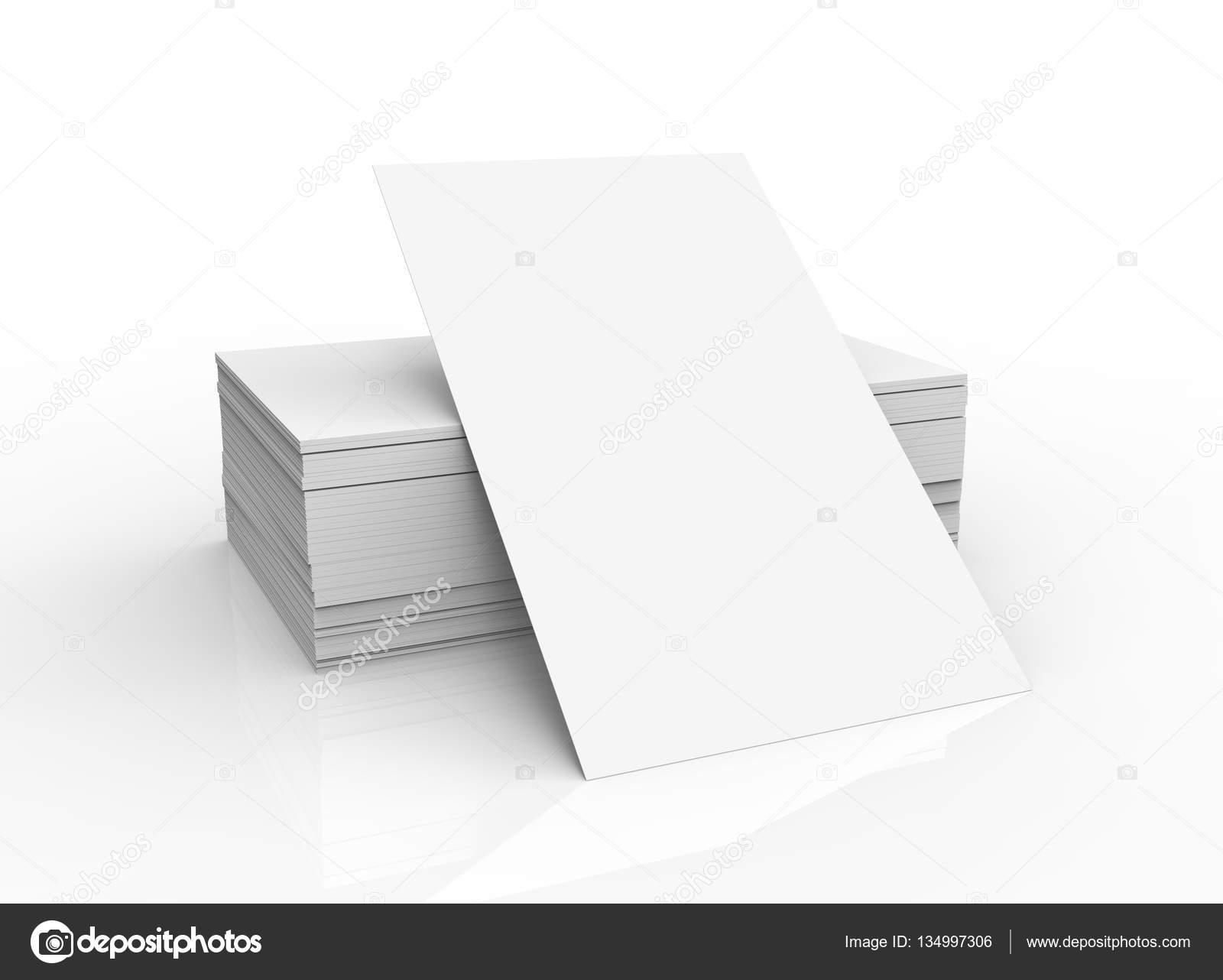 Pile De Modele Carte Visite Non Vierge Pour Edite Isole Sur Fond Blanc Image HstrongART