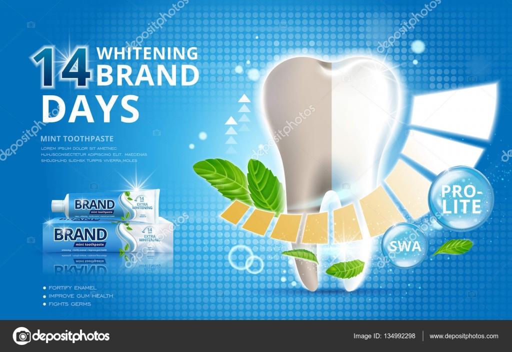Anuncios De Creme Dental Clareador Vetor De Stock C Hstrongart
