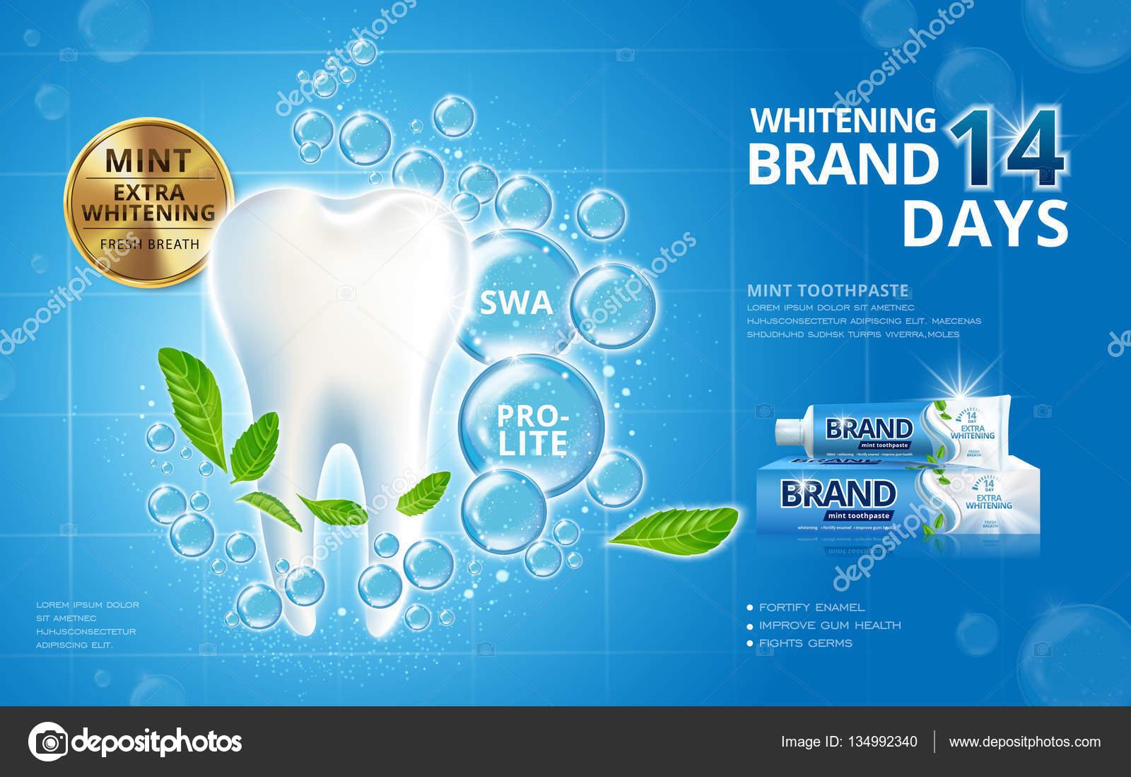 Anuncios De Creme Dental Clareador Vetores De Stock C Hstrongart