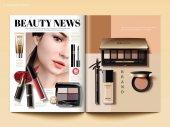 Vorlage für Kosmetikzeitschriften