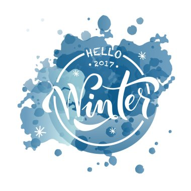 textured background for postcard with text winter