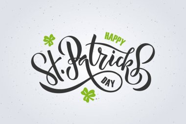 St.Patrick's Day lettering design