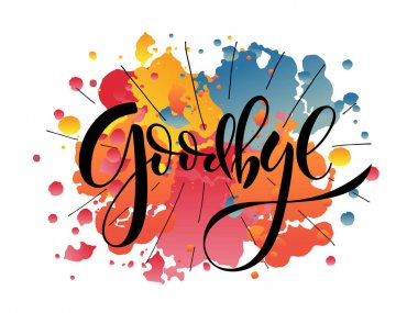 Hand sketched Goodbye lettering