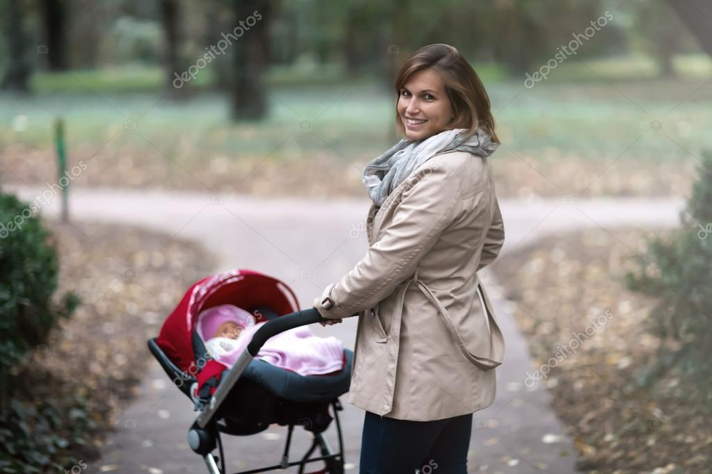Mother and toddle taking a walk