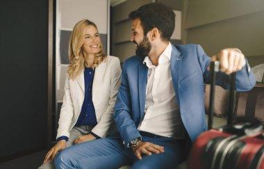 Business couple in formal wear