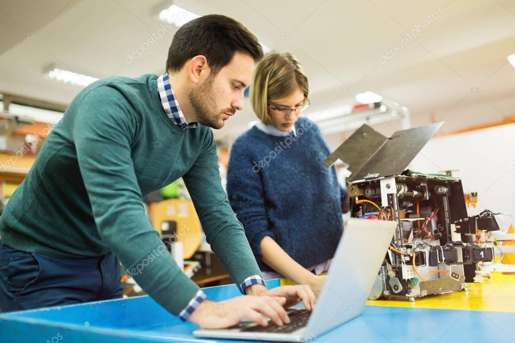 students engineers teamwork