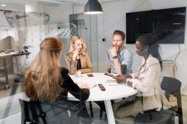 Business people board meeting