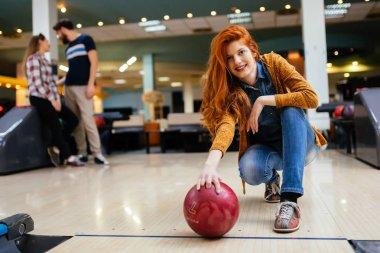 people enjoying bowling