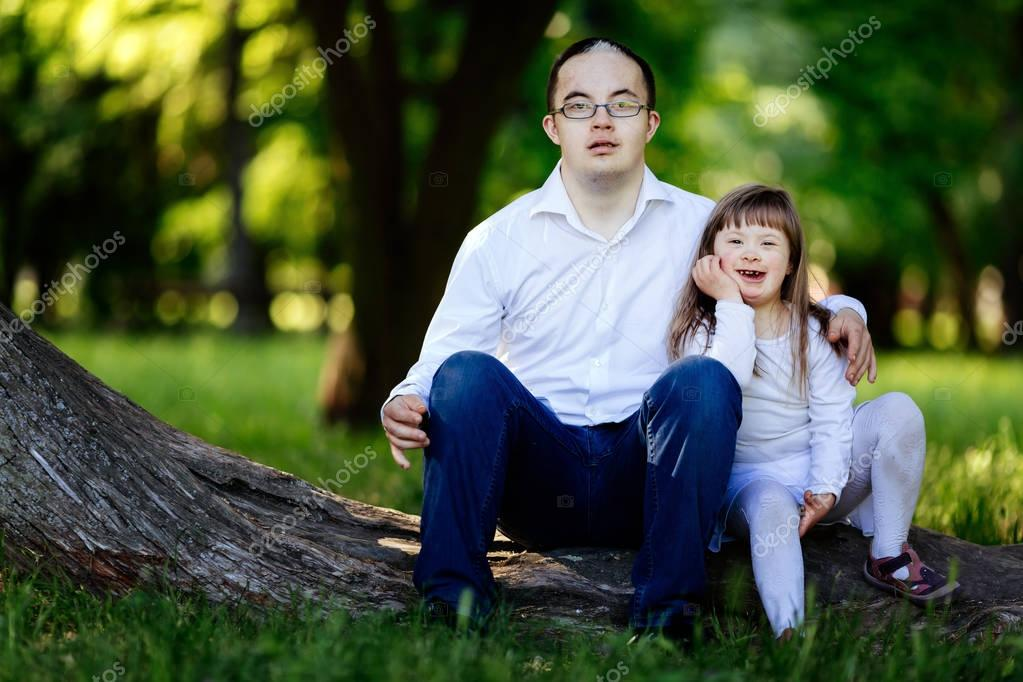 People with down syndrome cute bonding