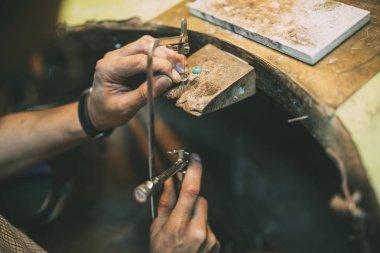 Jeweler crafting jewelry